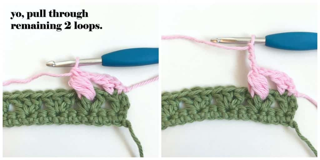 Flower Puff Stitch continue row 3