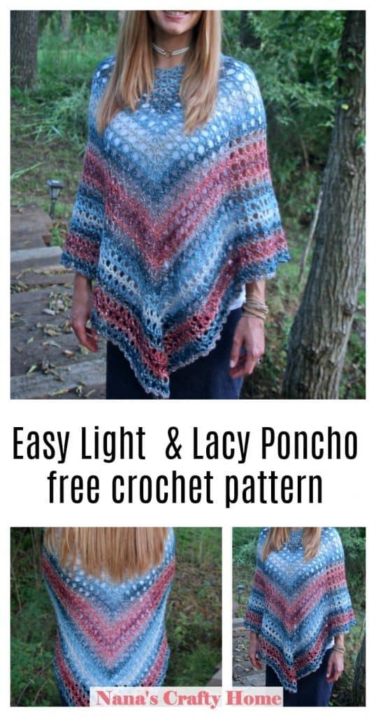 Midnight Madness Poncho free crochet pattern
