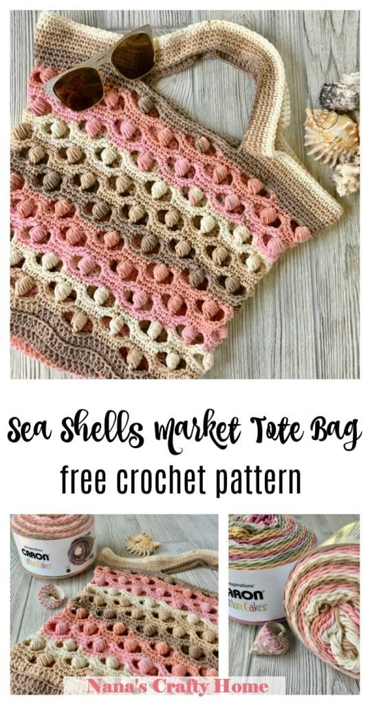 Sea Shells Market Tote Bag free crochet pattern