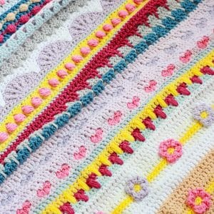 Stitch Sampler Blanket Spring Rhapsody Blanket free crochet pattern CAL announcement
