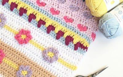 Crochet Stitch Sampler Blanket Spring Rhapsody Free Crochet Pattern CAL