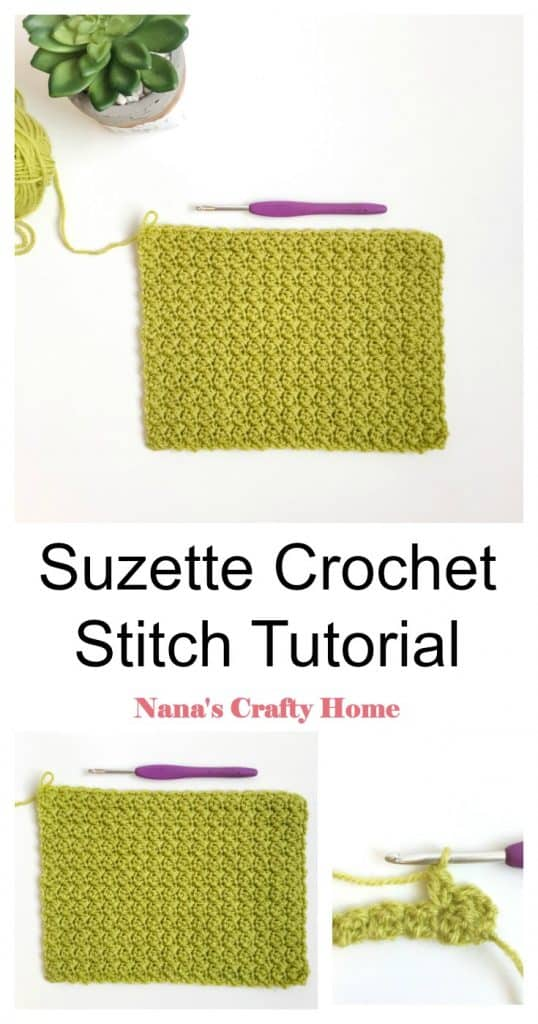 Suzette Crochet Stitch Photo Video Tutorial