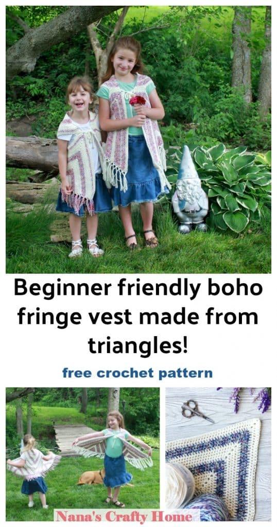 boho child crochet vest free crochet pattern