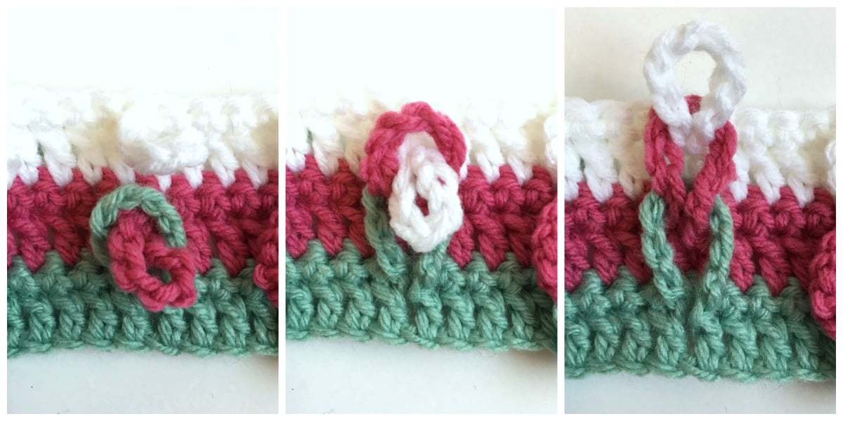 Braided Loops Crochet Stitch how to braid loops
