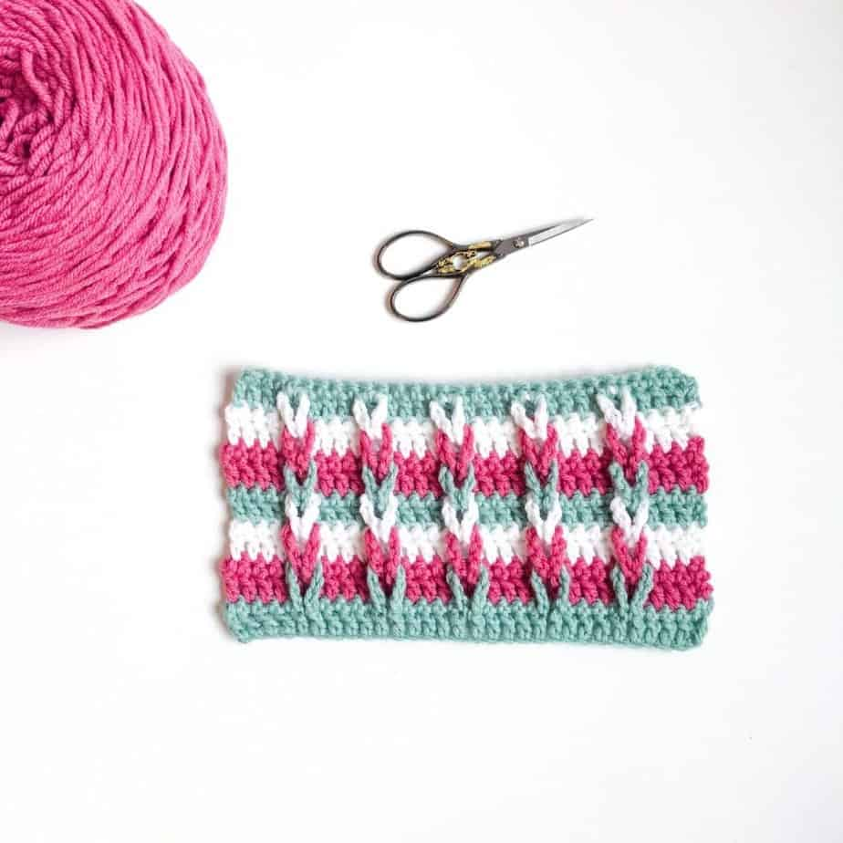 Braided Loops Crochet Stitch complete