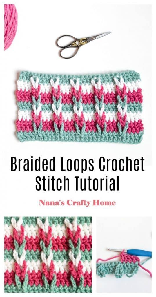 Braided Loops Crochet Stitch Pinterest