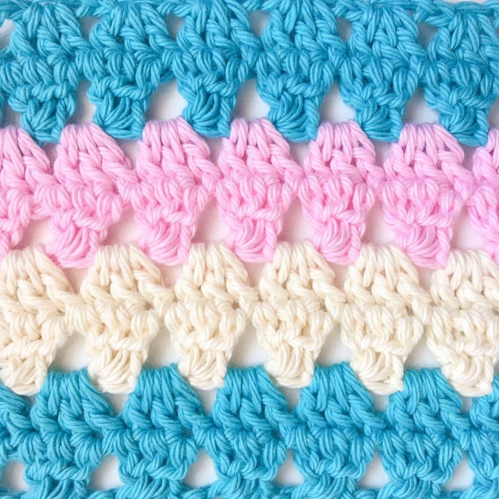 Granny Triangle Crochet Stitch close up