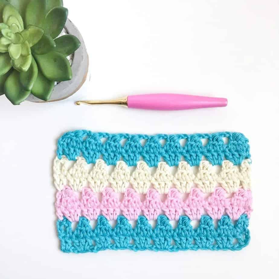 Granny Triangle Crochet Stitch Tutorial Complete