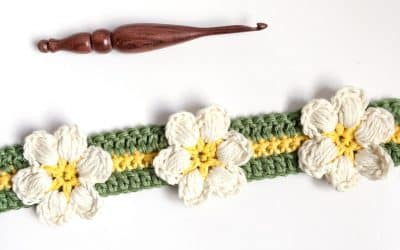 Magnolia Flower Crochet Stitch Photo & Video Tutorial