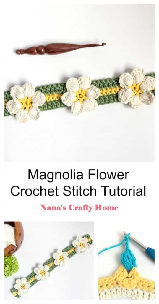 Magnolia Flower Crochet Stitch Tutorial Pinterest