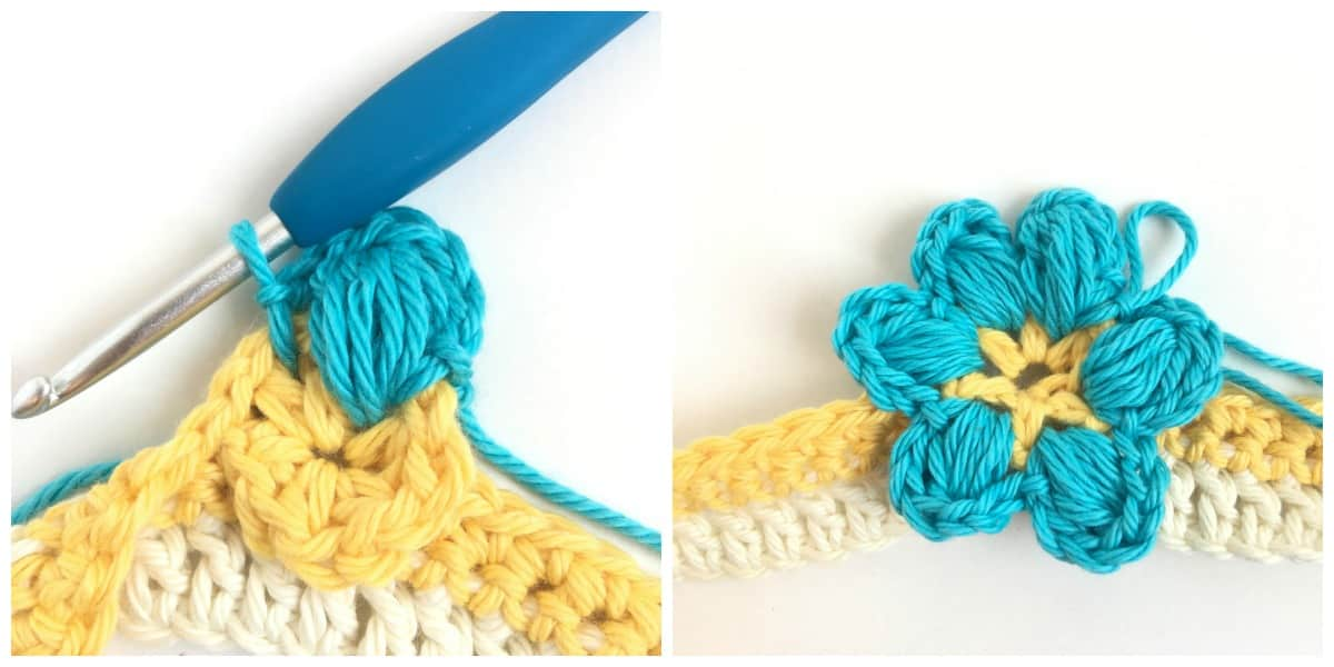 Magnolia Flower Crochet Stitch Tutorial flower petals finish