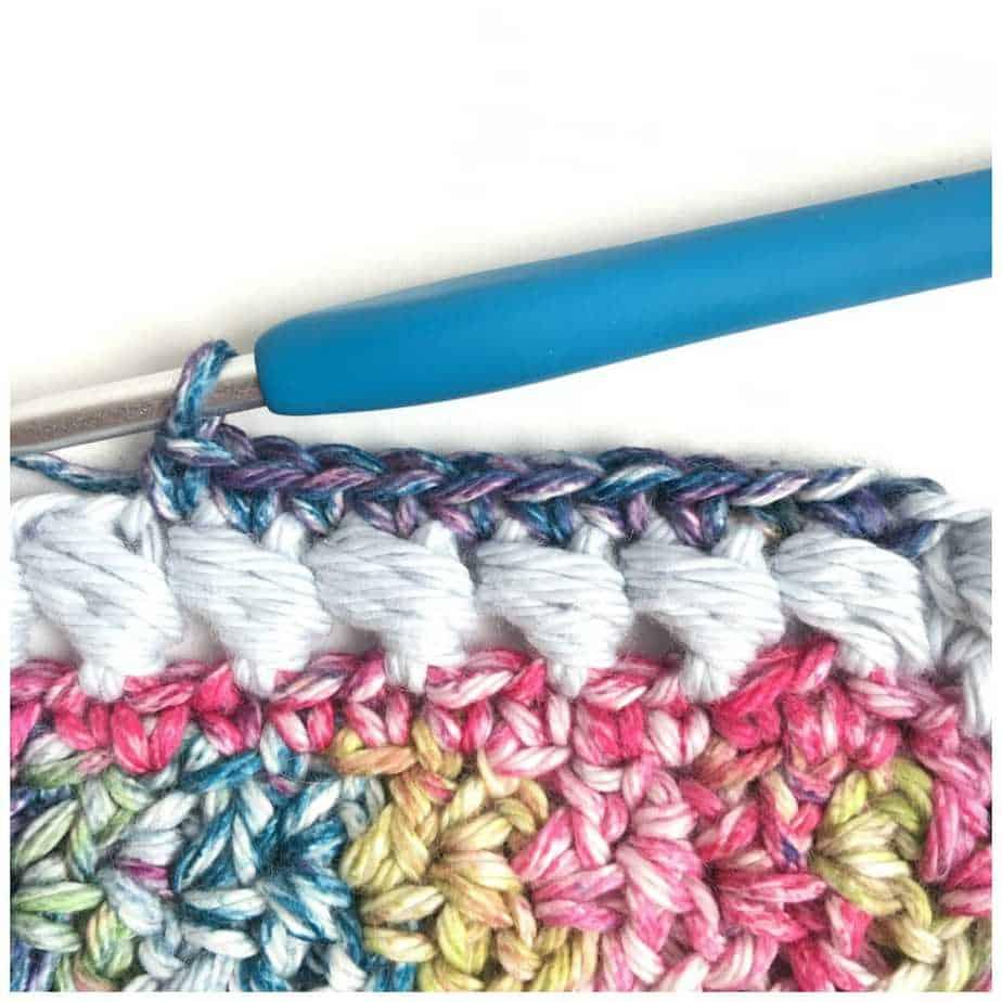 Puff Edge Border Crochet Stitch Round 2