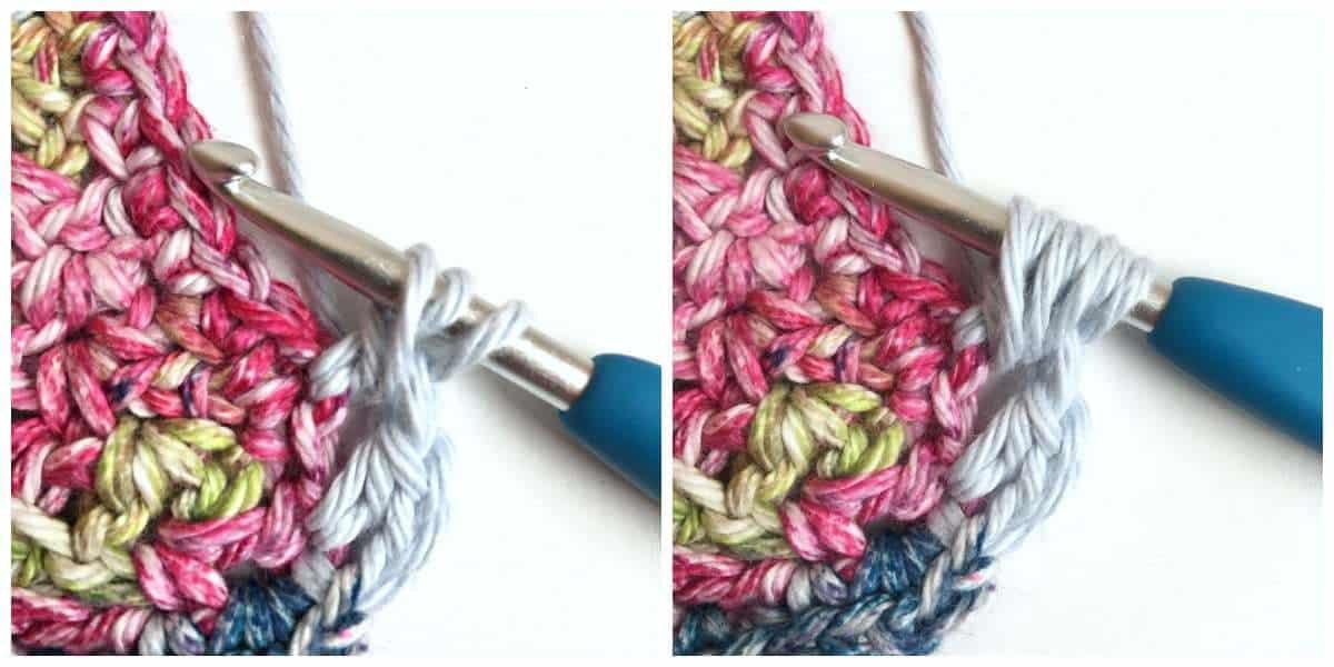 Puff Edge Border Crochet Stitch Begin Puff stitch
