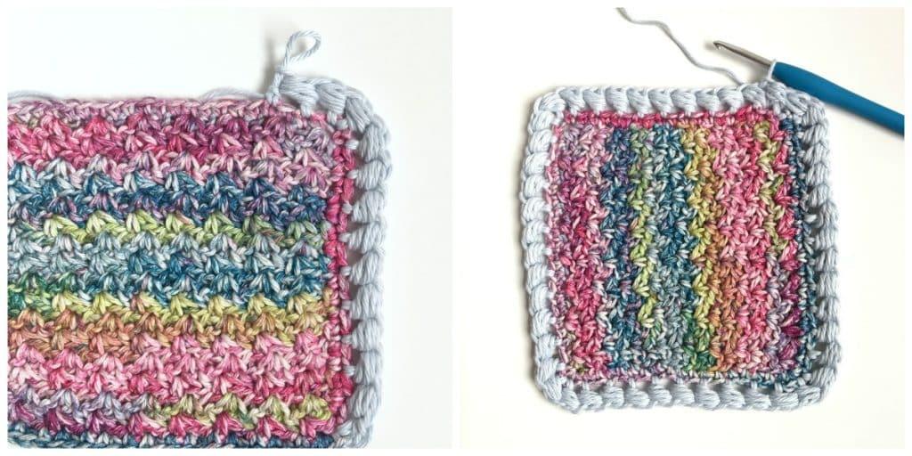 Puff Edge Border Crochet Stitch Corner & end shot