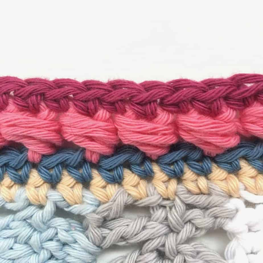 Puff Edge Border Crochet Stitch Close up