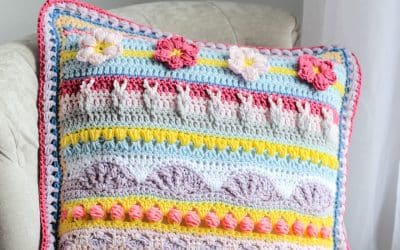 Stitch Sampler Spring Rhapsody Pillow free crochet pattern