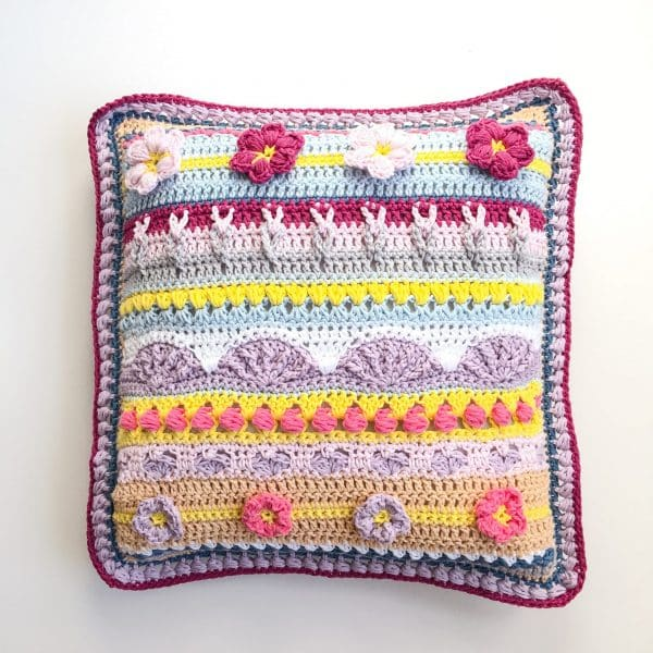 Stitch Sampler Spring Rhapsody Pillow insert pillow flat