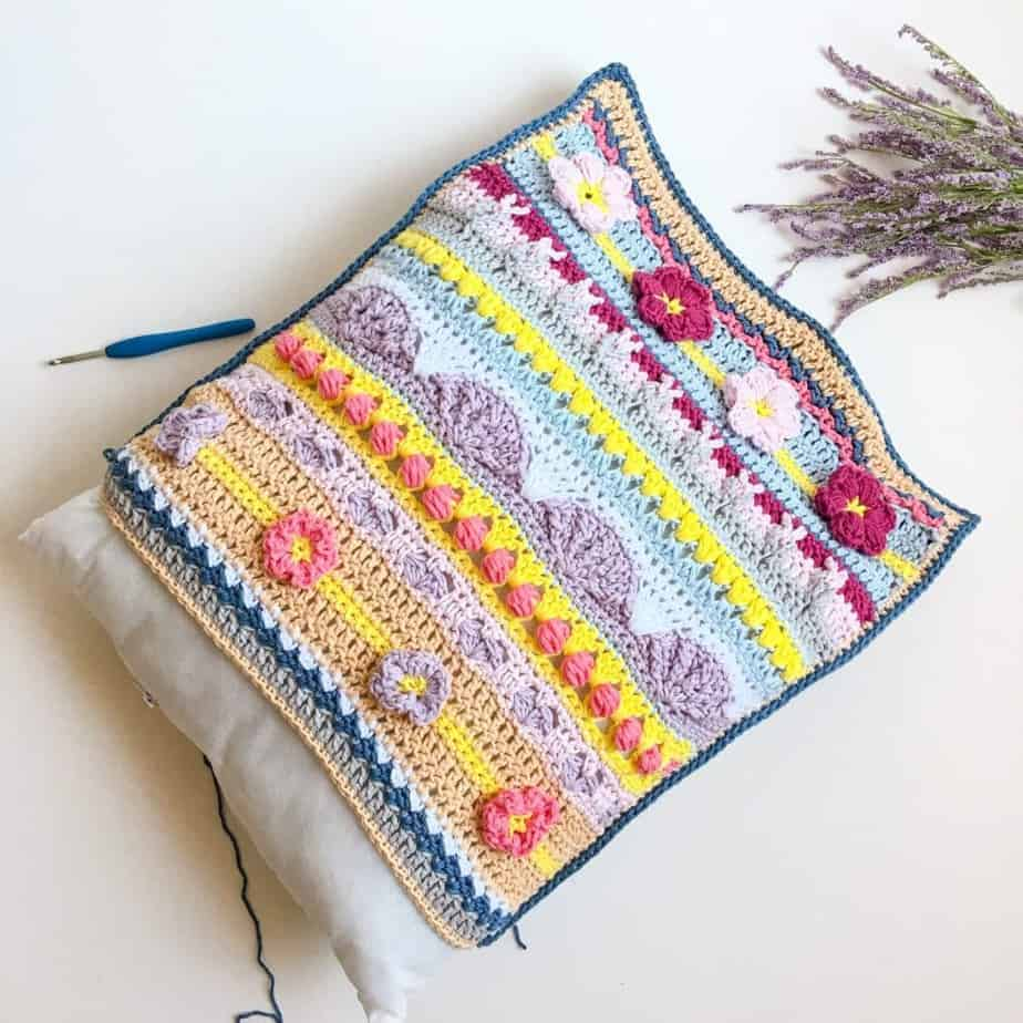 Stitch Sampler Spring Rhapsody Pillow insert pillow form