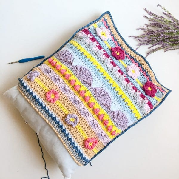 Stitch Sampler Spring Rhapsody Pillow insert pillow form