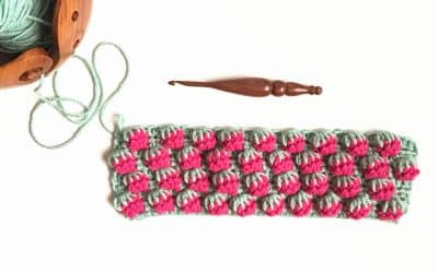 Strawberry Crochet Stitch Photo & Video Tutorial