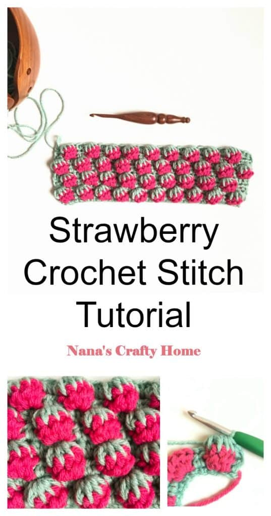 Strawberry Crochet Stitch Tutorial Pinterest