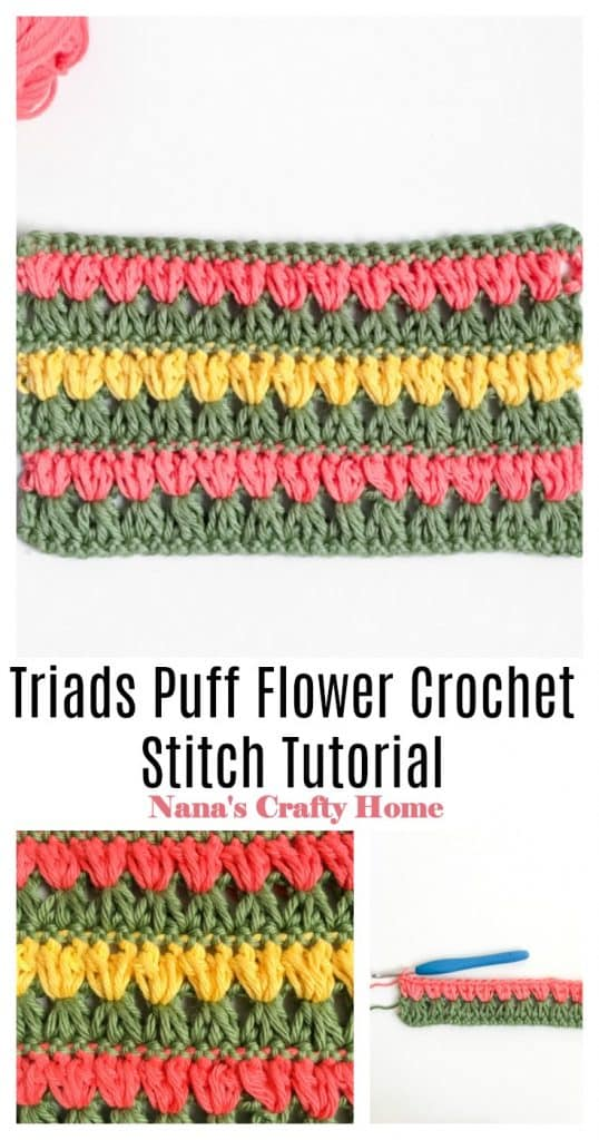 Triads Puff Stitch Pinterest Collage