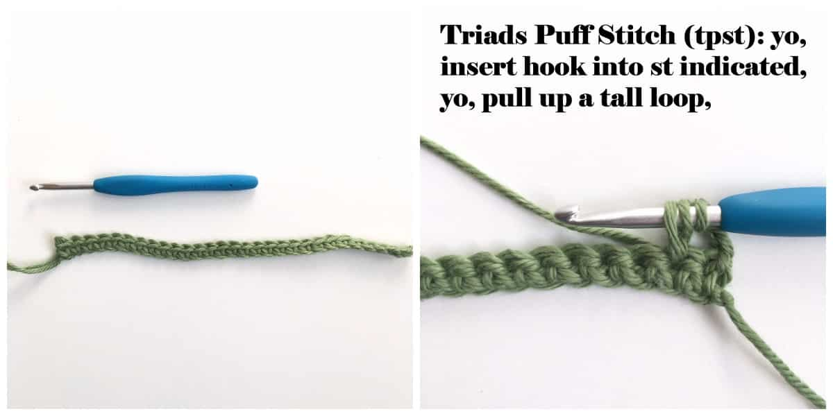 Triads Puff Stitch Process 1
