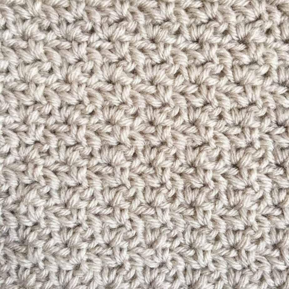 Wattle Crochet Stitch Photo & Video Tutorial Closeup