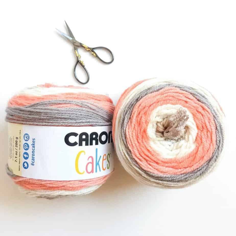 Choose self-striping yarn cakes multi cake projects Caron Cakes