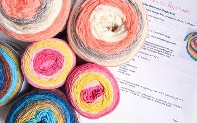 Choose the right self-striping yarn cakes for your multi-cake projects!