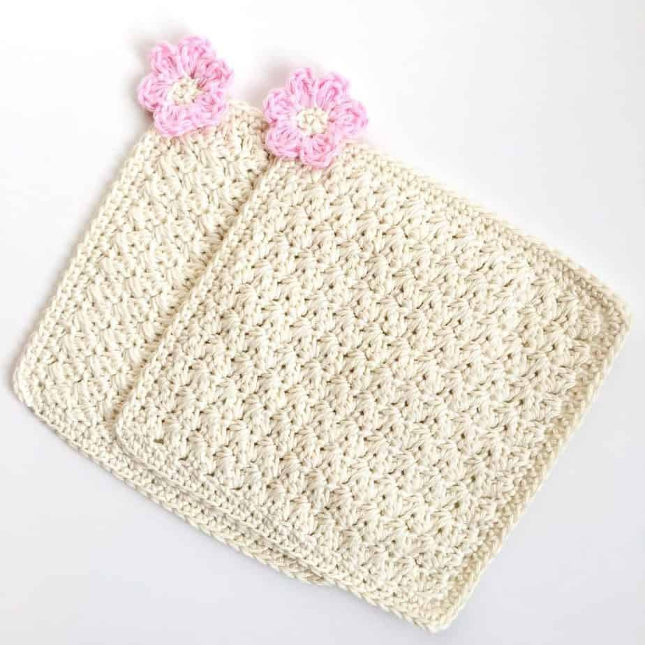 Flower Blossom Spa Washcloth double flat