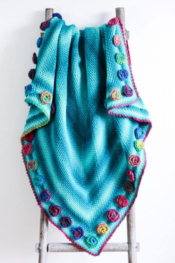Flower Meadow Blanket free crochet pattern ladder