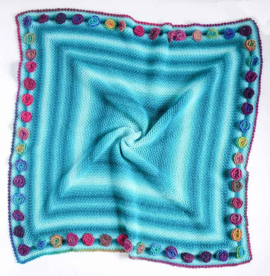 Flower Meadow Blanket free crochet pattern flat