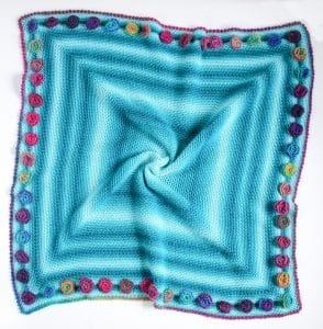 Flower Meadow Blanket free crochet pattern flat