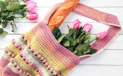 Gathering Rosebuds Crochet Market Bag Pattern