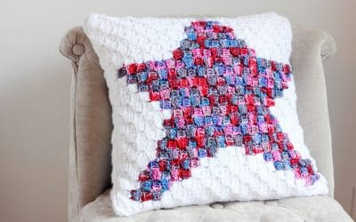 Star Crochet C2C Pillow free crochet pattern