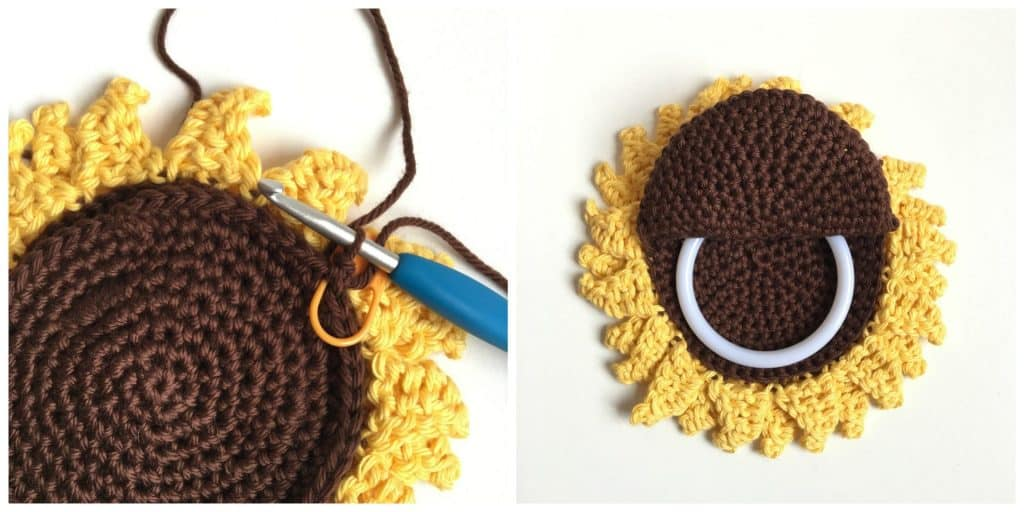 Sunflower Towel Topper Ring process instructions part 4