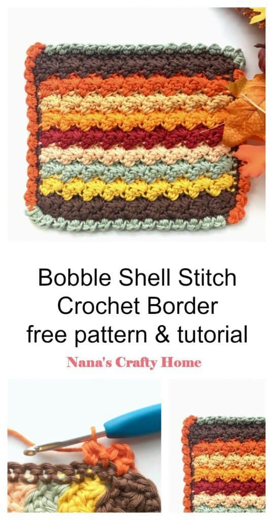 Bobble Shell Crochet Stitch Border Pinterest