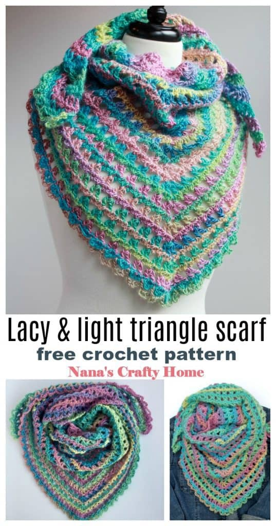 Candy Kisses crochet scarf pinterest collage