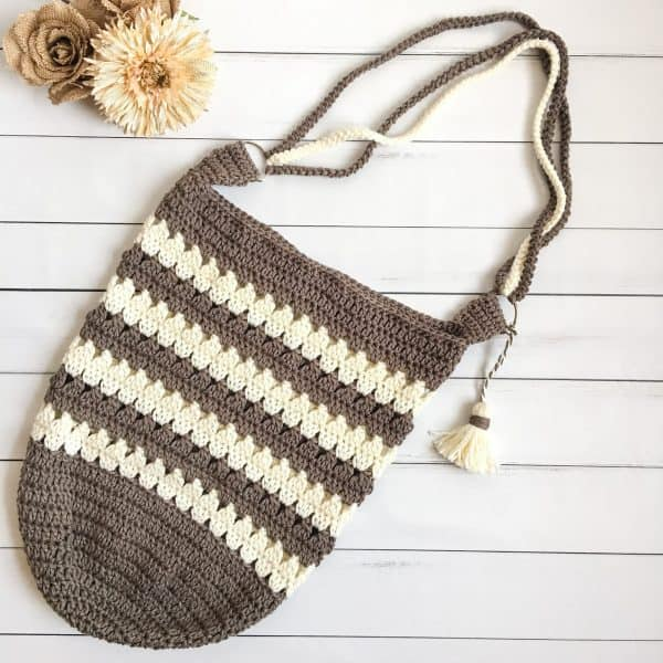 Coffee & Cream Market Bag free crochet pattern