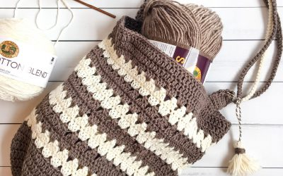 Crochet Market Bag Pattern Coffee & Cream Bag Free Crochet Pattern