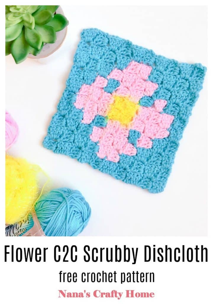 Flower Scrubby C2C Dishcloth Pinterest