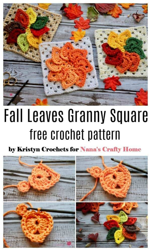 Fall Granny Leaves Square free crochet pattern