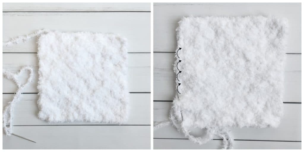 Christmas Gnome C2C Pillow free crochet pattern pom pom tutorial