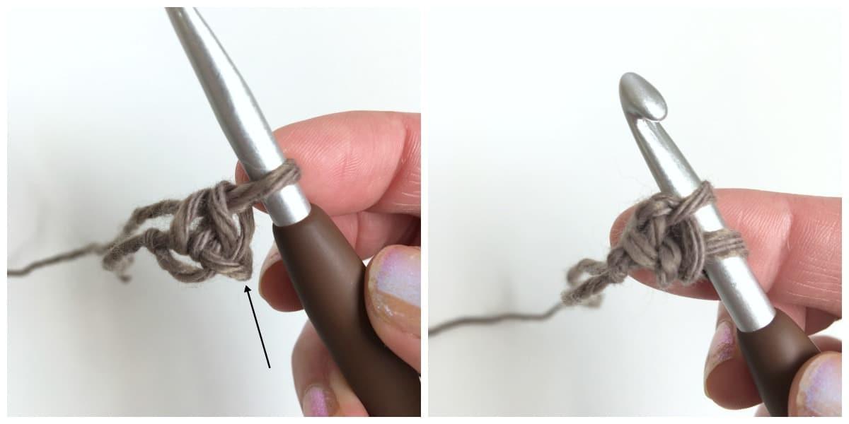 How to crochet Romanian cord tutorial process 2