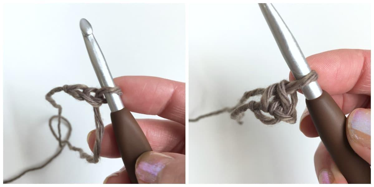 How to crochet Romanian cord tutorial process 1