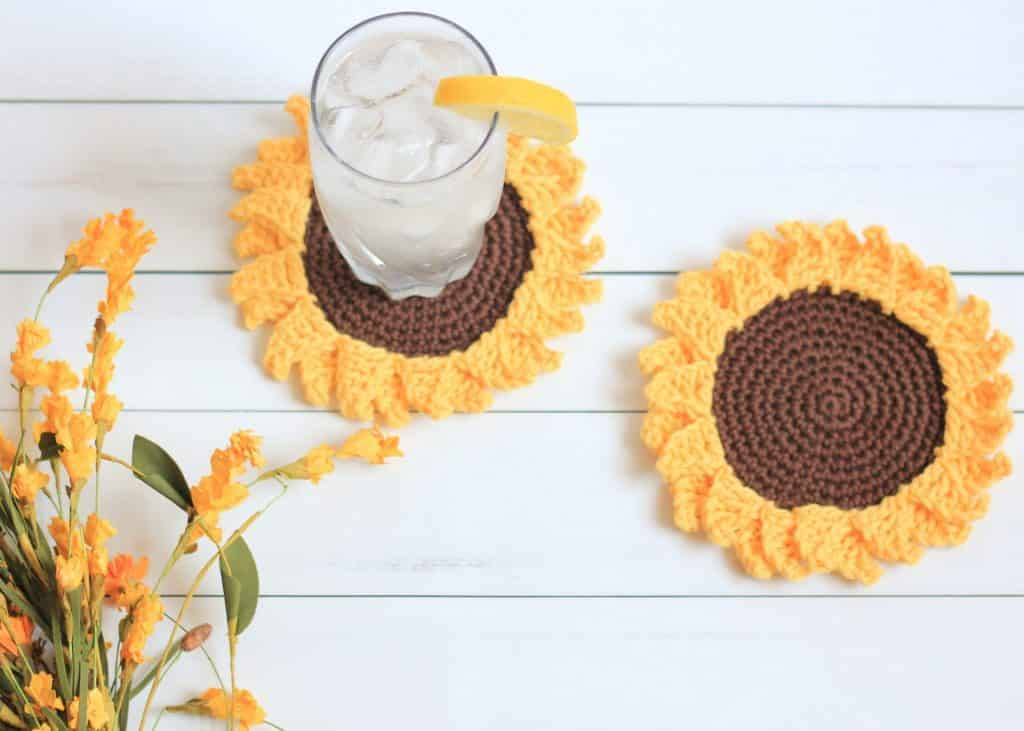 Sunflower Coaster crochet pattern