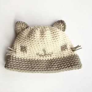 Cat Crochet looks like knit hat free crochet pattern
