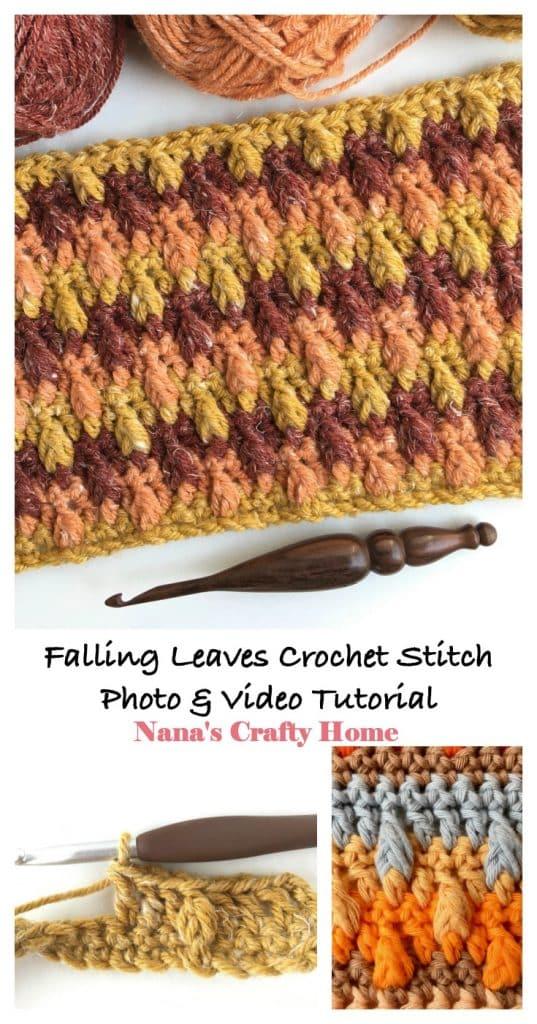 Falling Leaves Crochet Stitch Tutorial