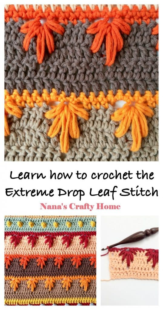 Learn how to crochet the Extreme Drop Leaf Stitch Video Tutorial